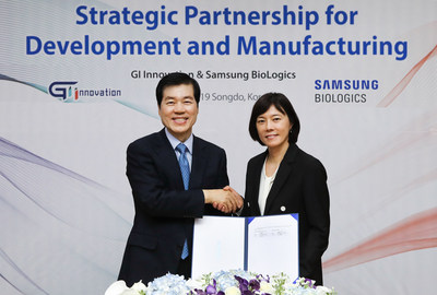 Samsung BioLogics (CEO: Tae Han Kim) and GI Innovation (CEO: Soo Yeon Nam)