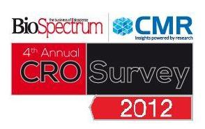4th Annual BioSpectrum-CMR Survey' of contract and clinical research organizations (CRO) 2012