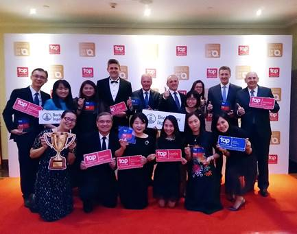 Business and HR leaders from Boehringer IngelheimSouth East Asia and Korea region at the Top Employer 2020 Certification Dinner in Singapore on 9th Dec 2019