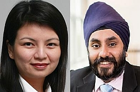 Ms Samantha Su, director, services and biomedical, Spring, Singapore, and Mr Simranjit Singh, chairman, BioSingapore